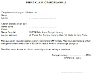 Contoh Surat Kuasa Dari Kepala Sekolah Kepada Bendahara ...