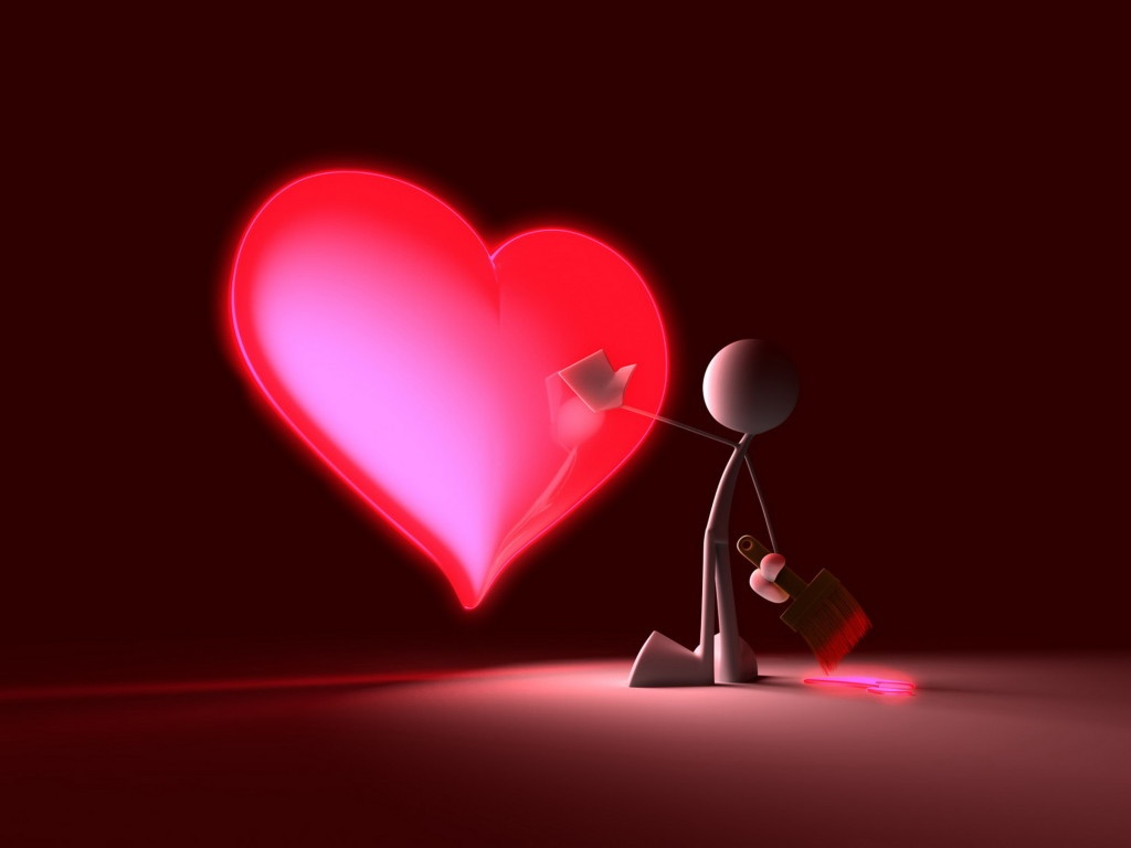 3d Heart Wallpaper Free 3d Wallpaper Download