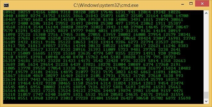 how to make the matrix in a command prompt