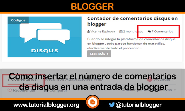 Como Integrar el contador de comentarios disqus en blogger