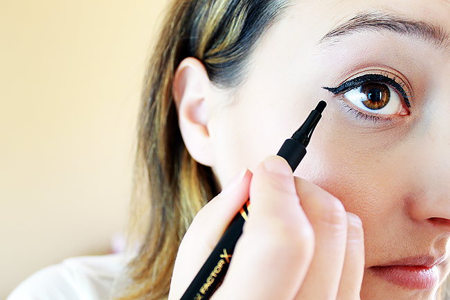 Create cat eye using Max Factor Masterpiece High Precision Liquid Eyeliner