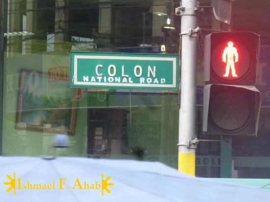 Calle Colon Sign in Cebu City