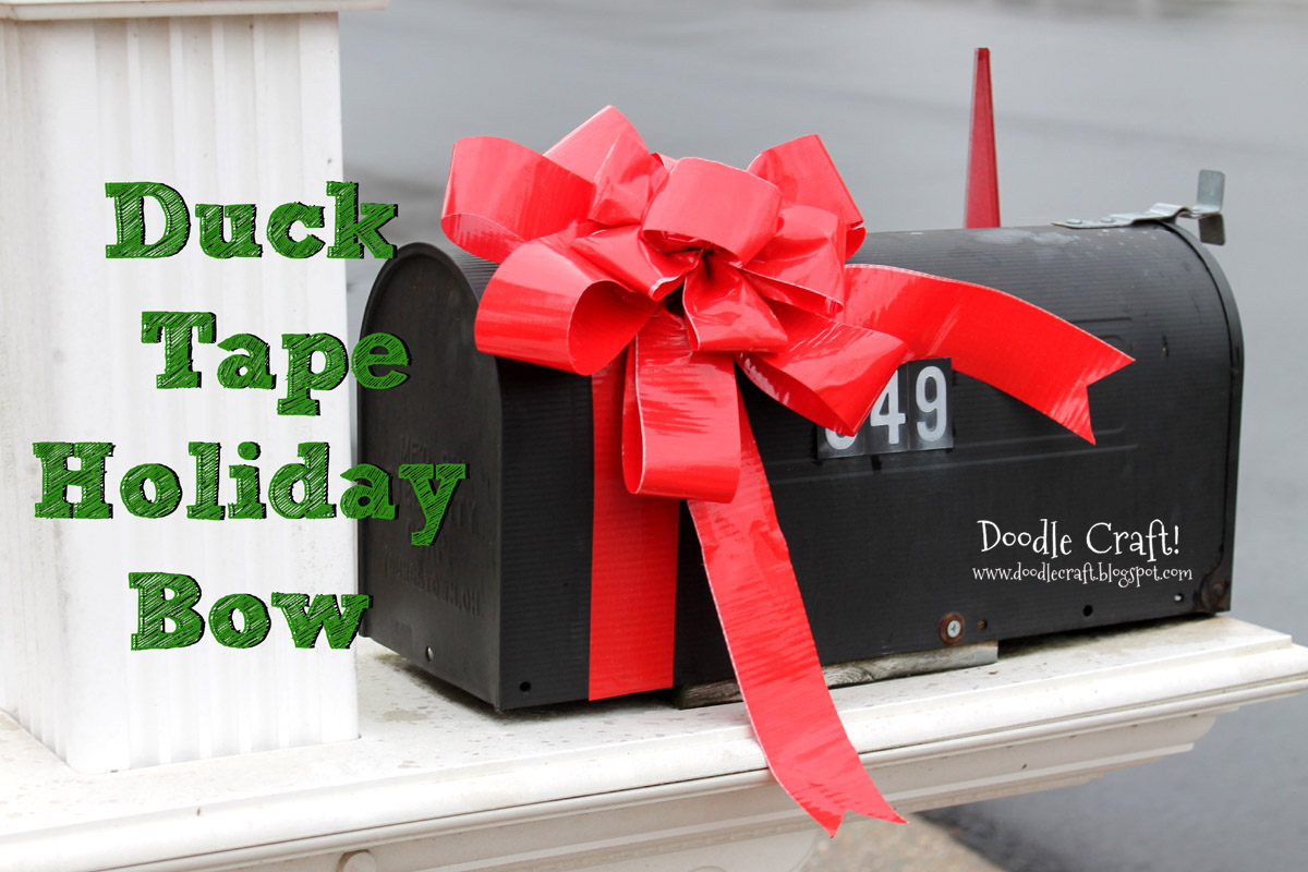 Doodlecraft Duck Tape 174 Holiday Mailbox Bow