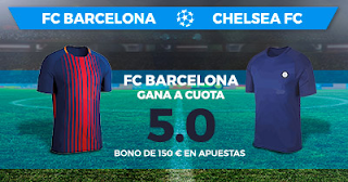 Paston Megacuota: Champions League Barcelona vs Chelsea 14 marzo