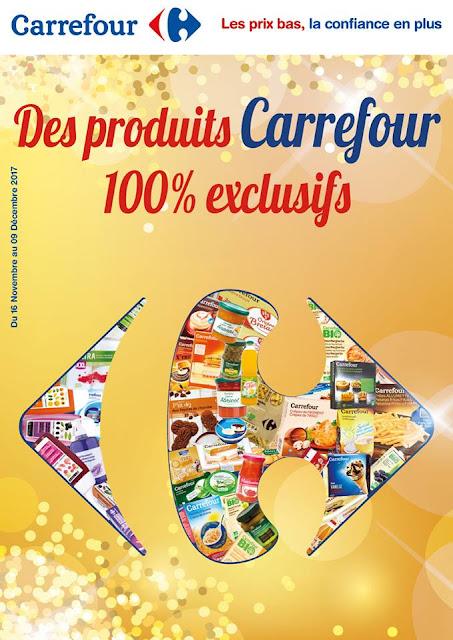 catalogue carrefour produits exclusifs novembre decembre 2017