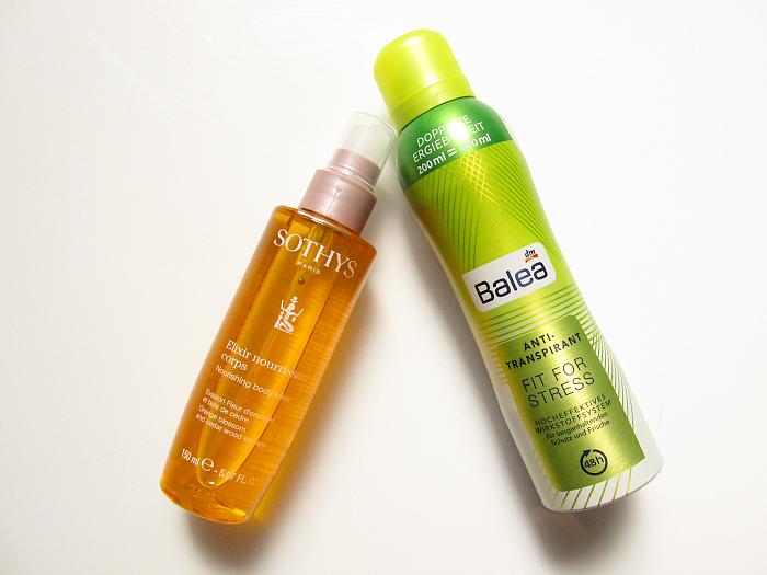Review: Sothys Nourishing Body Elixir & Balea - Anti-Transpirant FIT FOR STRESS