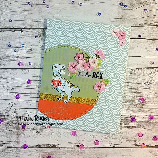 Dinosaur and Tea card by Naki Rager | Tea Rex Stamp Set by Newton's Nook Designs #newtonsnook #handmade