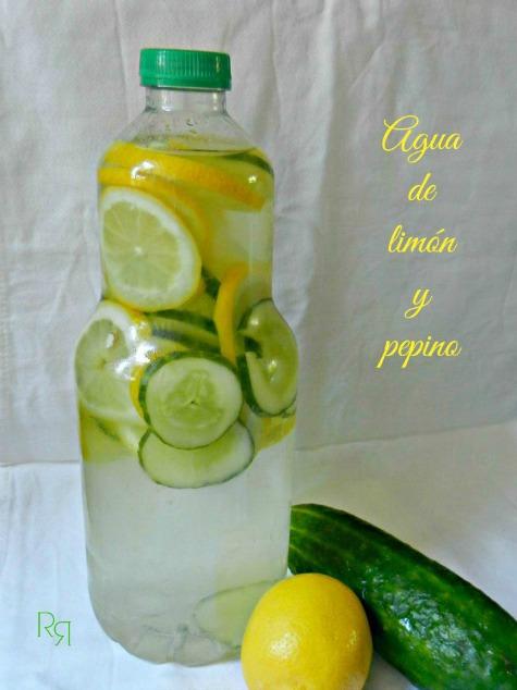 """Agua de limón y pepino"""