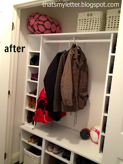 diy mudroom closet after