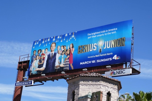 Genius Junior series premiere billboard