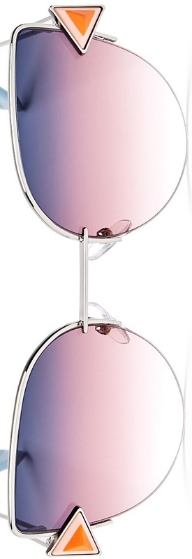 Fendi Embellished Cat Eye Sunglasses, 55mm Violet Gold/Gray Fuschia Gradient