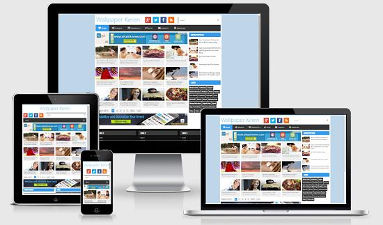 Wallpaper Keren Premium Blogger Template Apothemes