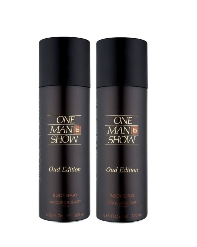 Pack Of 2 - One Man Show Oud Edition Body Spray 200 ml