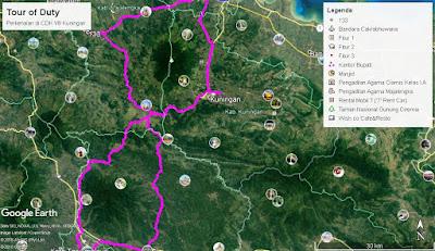 Rute perkenalan CDK VIII Dishut Jabar mengelilingi Gunung Ceremai dan Gunung Sawal