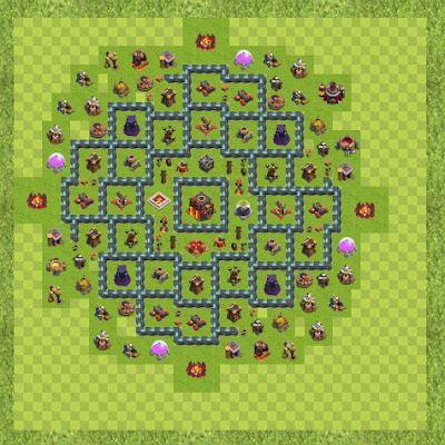 War Base Town Hall Level 10 By arezoooooo (arezoo TH 10 Layout)