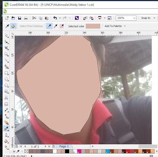 cara membuat vektor wajah jadi kartun di coreldraw