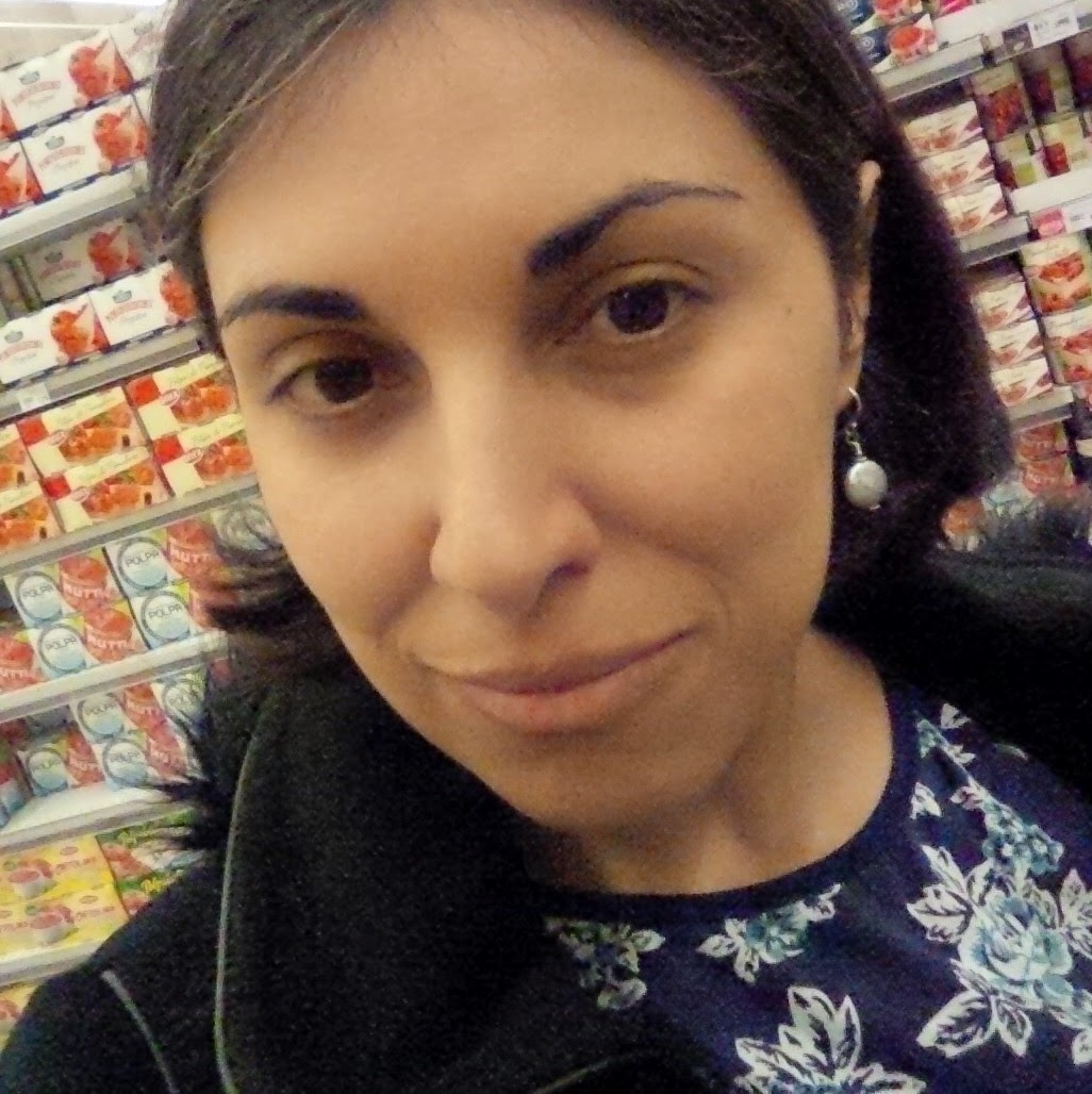 Trying to take a selfie during our weekly food shop
