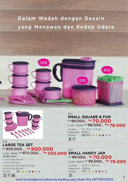 Promo Diskon Large Tea Set, Small Square Fun, Small Handy Jar Oktober 2017