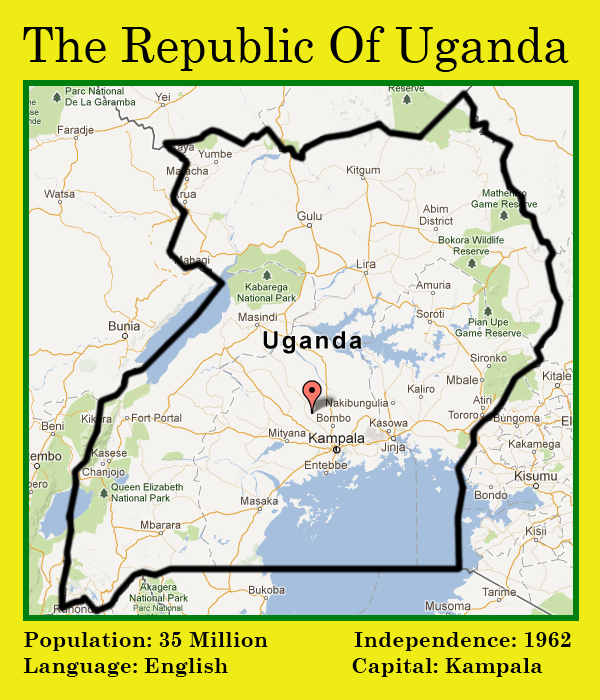 Map: Republic of Uganda