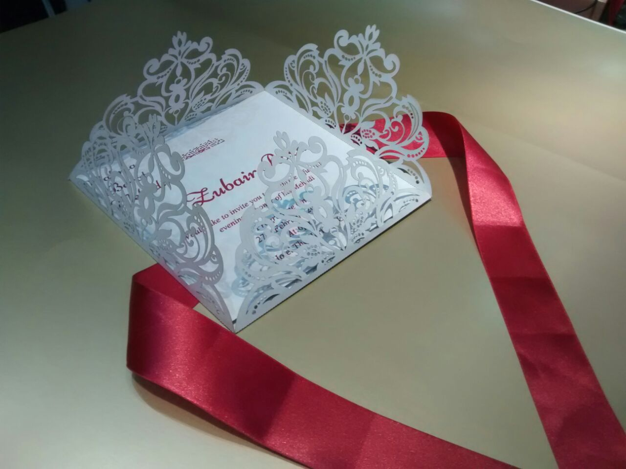 Laser Cut Wedding Cards | Township Printers