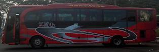 rute dan tarif bus zena jurusan malang, surabaya, jogja, purwokerto, denpasar, padang bai, blitar