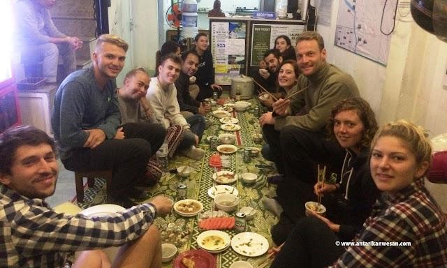 Co-travelers at the Family Dinner, Freedom Hostel, Hue, Vietnam