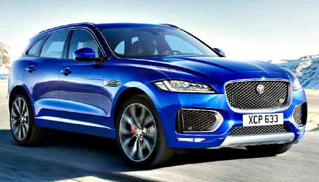 Jaguar F-Pace frontal azul rey