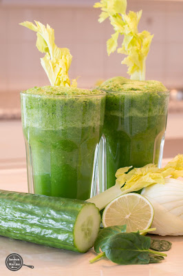 Smoothie van groene groenten