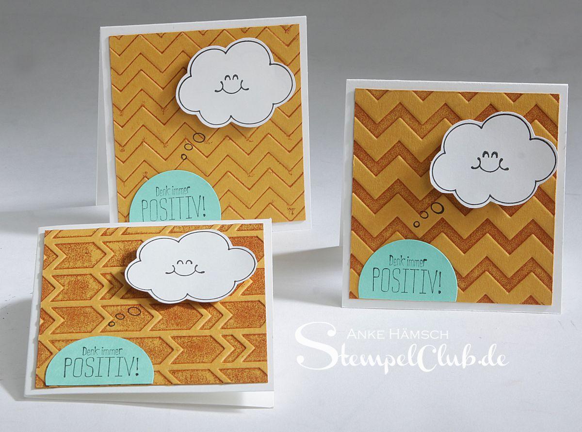 Minikarten mit Prägefolder embosst