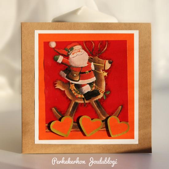 Kuva: Itse tehdyt joulukortit helposti ja nopeasti