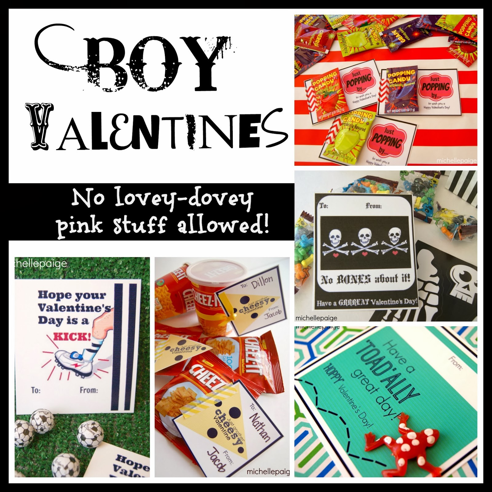 Michelle Paige Blogs Printable Boy Valentines For An 11