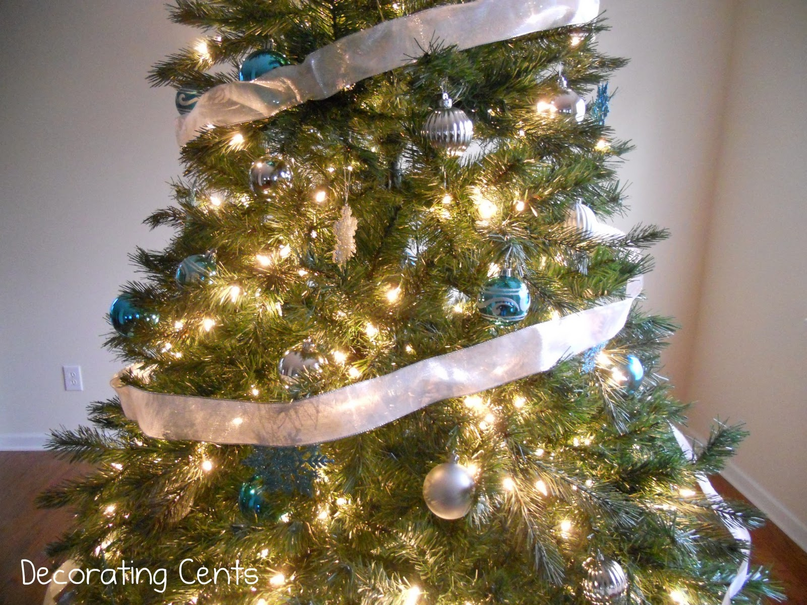 Decorating Cents Blue And Silver Christmas Tree