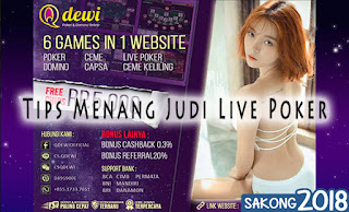 Tips Menang Agen Judi Live Poker Online QDewi.net