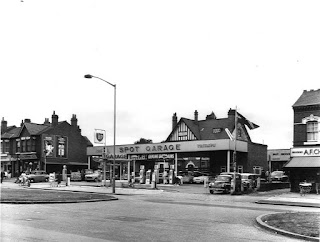 Spot Garage, Bristol Road South, Birmingham 1964