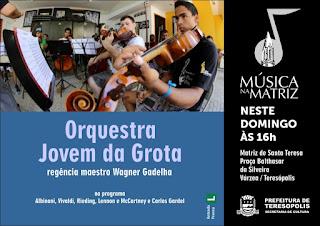 projeto Música na Matriz em Teresópolis (Matriz de Santa Teresa) com a Orquestra Jovem da Grota,regência do maestro Wagner Gadelha