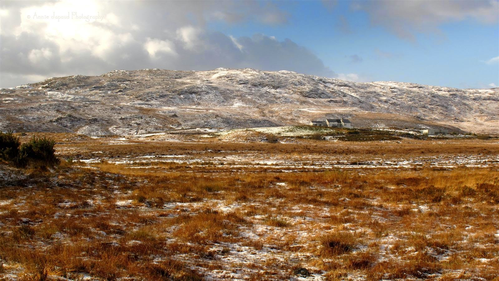 Connemara landscape, March snow