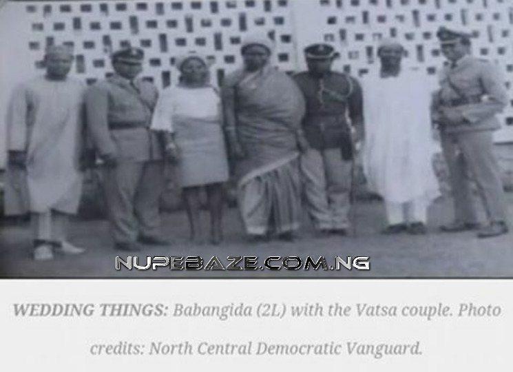 Major General Mamman Jiya Vatsa With His Wife Hajiya Safiya And General Ibrahim Badamasi Babangida