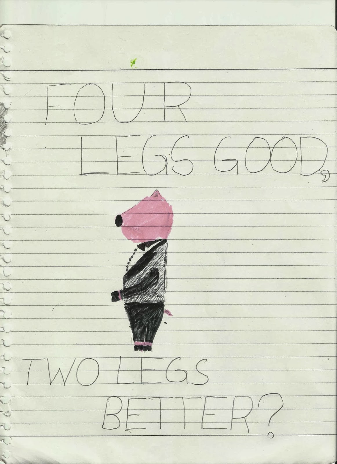 Animal Farm Chapter 10 Propaganda Poster