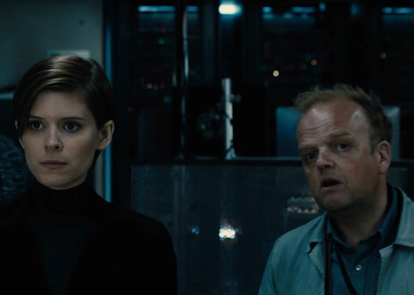 Kate Mara and Toby Jones in Morgan