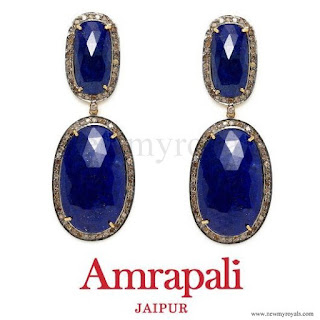 Kate Middleton jewels AMRAPALI  Lapis & Diamond Double Oval Drop Earrings