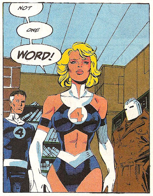 Invisible Woman 90's Costume Invisible cleavage Paul Ryan