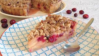 Tarta de Manzana y Arándanos Rojos con Streusel de Avena y Nueces