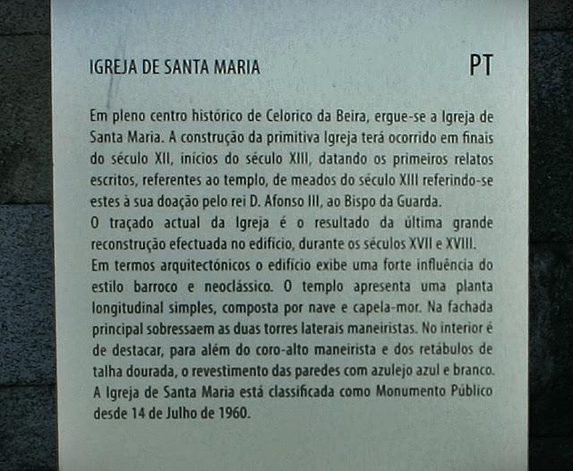 Igreja Santa maria Celorico da Beira