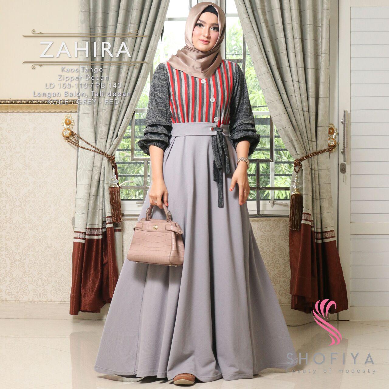 Jual Long Dress Premium Zahira Gamis Wanita Dress Wanita