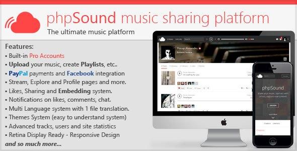 phpSound v1.2.4 – Music Sharing Platform PHP Script