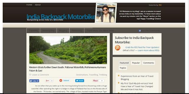 Indian backpack motorbike