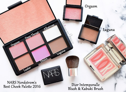 Swatches + Review: Nars Nordstrom's Best Cheek Palette + Dior Intemporalle Blush Palette