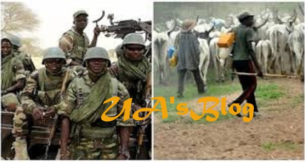Troops apprehend herdsmen destroying farms in Benue