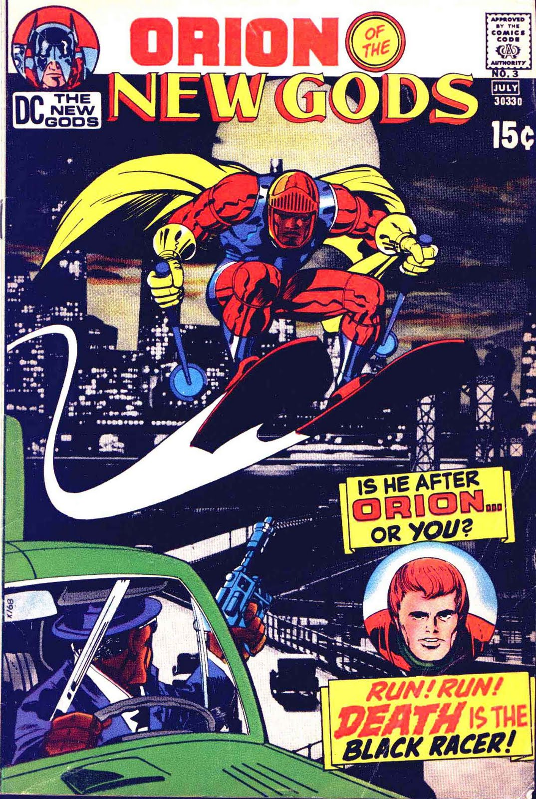 New Gods v1 #3 dc bronze age comic book cover art by Jack Kirby