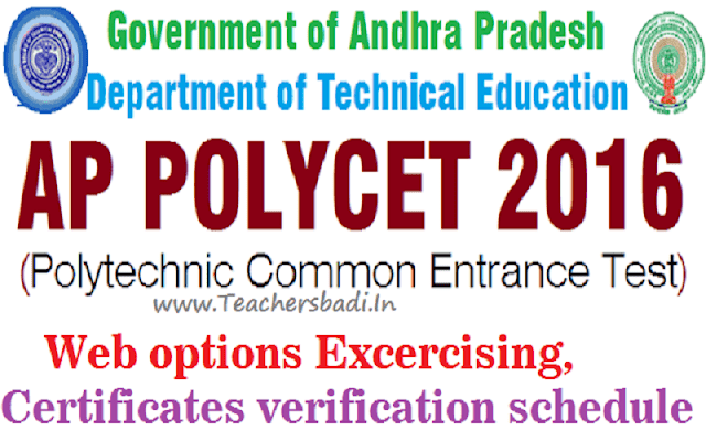 AP Polycet,Web options,Certificates verification schedule